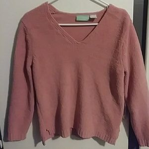 Extremely Soft Pink V-Neck Sweater